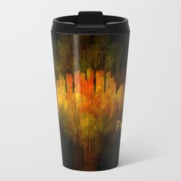 Phoenix Arizona, City Skyline Cityscape Hq v4 Dark Travel Mug