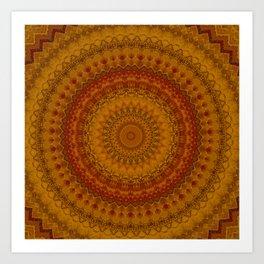 Vintage Bohemian Mandala Art Print