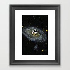 A cow become Space Junk at the Universe Framed Art Print