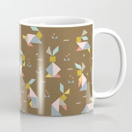 Tangram Bunnies M+M Nutmeg by Friztin Coffee Mug