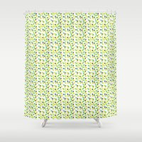 confetti Shower Curtains featuring confetti by MGK Designs