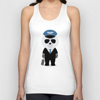 aviation Tank Tops featuring Aviation Bear by Elle Moz
