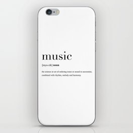 Music definition iPhone Skin