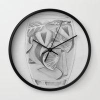 drink Wall Clocks featuring Drink by seekmynebula