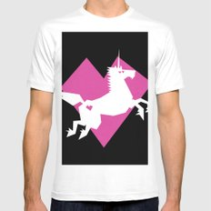 I love Unicorns! Mens Fitted Tee MEDIUM White