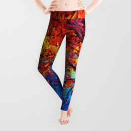 Tardis Tree Art Blossom Leggings