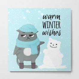 Cute adorable Grumpy 4 Metal Print