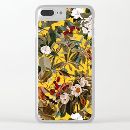 Floral and Birds XXVII-I Clear iPhone Case