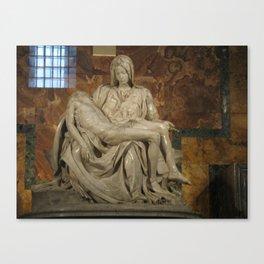 Michelangelo's Pieta Canvas Print