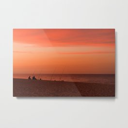 Evening Fishermen Metal Print