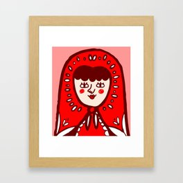 Babushka Framed Art Print