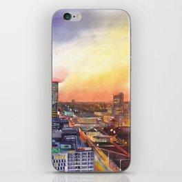 Sunset in Warsaw iPhone Skin