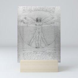 Leonardo da Vinci Vitruvian Man with Wings Study of Angels Mini Art Print
