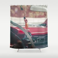 melbourne Shower Curtains featuring Aloha from Melbourne - 1 by Paul Vayanos
