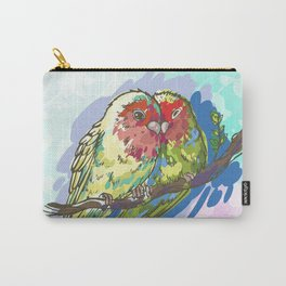 Expressive Parrots Lovebirds Carry-All Pouch
