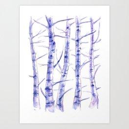 Birches I Art Print