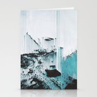 glitch Stationery Cards featuring Glitch by SUBLIMENATION