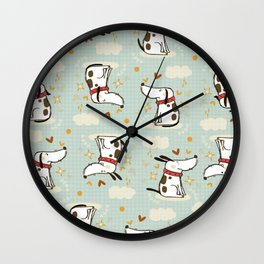 DOGGY IN THE SKY Wall Clock