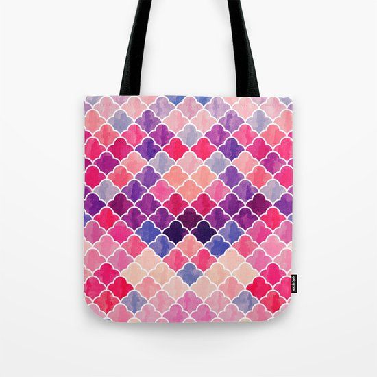 Watercolor Lovely Pattern VVXII Tote Bag