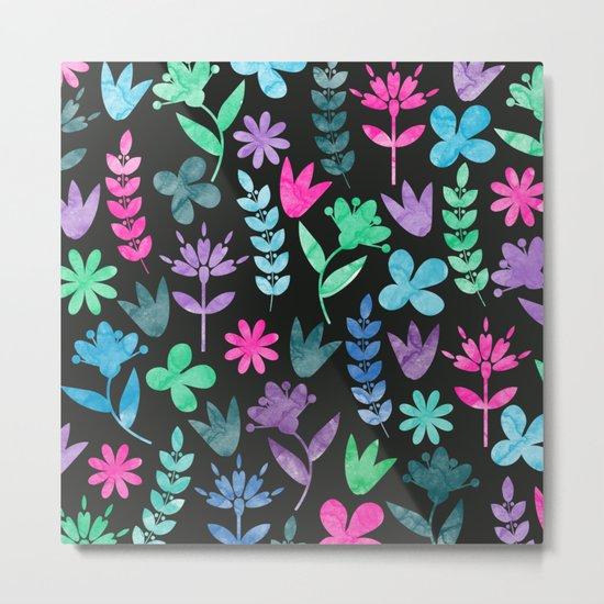 Flower Pattern V Metal Print
