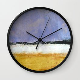 Mark Rothko Interpretation Acrylics On Paper Wall Clock