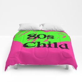80s Child Pink and Green Fluorescence Comforters