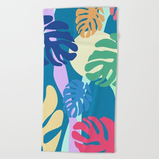 Tropical view Beach Towel