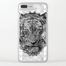mandala tiger Clear iPhone Case
