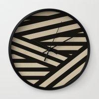 decal Wall Clocks featuring Bandage by Charlene McCoy