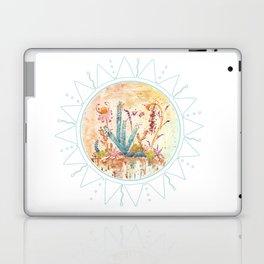 Cactus and Sun Art Illustration Laptop & iPad Skin