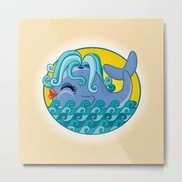 Sexy Whale Metal Print