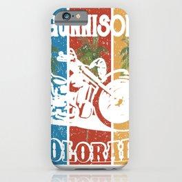 Gunnison Colorado Lifestlye Retro Custom iPhone Case