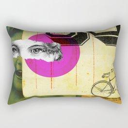 Play hide and seek with petit Nicola Rectangular Pillow