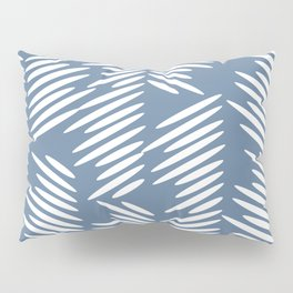 Leaves abstract in blue Pillow Sham