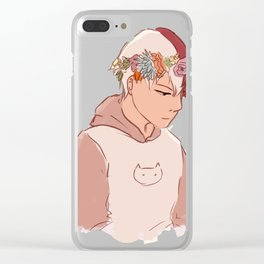 Todoroki Shouto Flower Crown Clear iPhone Case