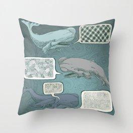 Whale Talk Throw Pillow