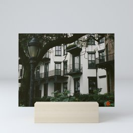 White Brooklyn Building Mini Art Print