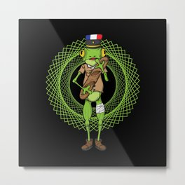French frog with baguette Metal Print