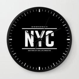 NYC TIme Wall Clock