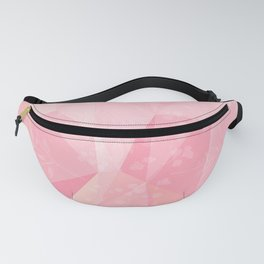 Geometric pink coral white abstract floral  Fanny Pack
