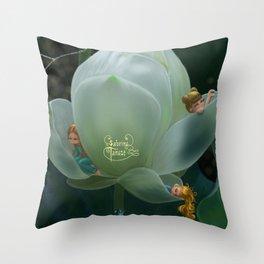 White Lotus Throw Pillow