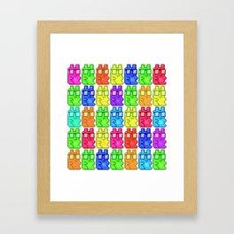 Pixel Gummy Bears Framed Art Print
