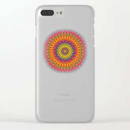 Mandala 073 (Neon) Clear iPhone Case