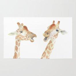 Giraffe Watercolor Rug