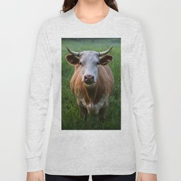 COW - FIELD - GREEN - VALLEY - NATURE - PHOTOGRAPHY - LANDSCAPE Long Sleeve T-shirt