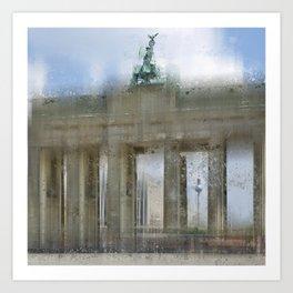 City-Art BERLIN Brandenburg Gate Art Print