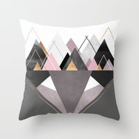 nordic Throw Pillows featuring Nordic Wilderness by Elisabeth Fredriksson