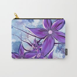 Painted Flowers Fractal Carry-All Pouch