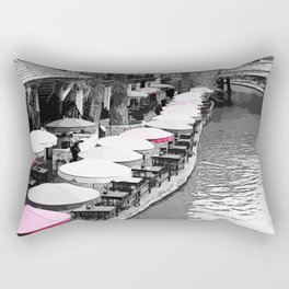 A Lovely Brunch By The River Pink Rectangular Pillow