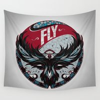 fly Wall Tapestries featuring Fly by Andreas Preis